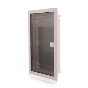 Multimediaverteiler Kommunikationsverteiler Unterputz IP40 Tür transparent 650°C