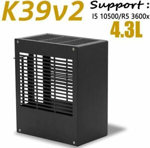 SGPC K39v2 Mini Aluminum itx Chassis HTPC Black Computer Case For R5/i5