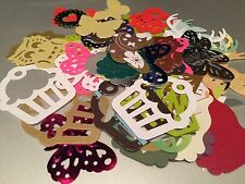 MIXED Punches - Butterflies/Owls/Birds/Gems/Cakes (Paper & Card) 60+ Pieces!!!!
