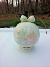 Precious Moments Ornament May Your Christmas Be A Happy Home Porcelain Ball 1990