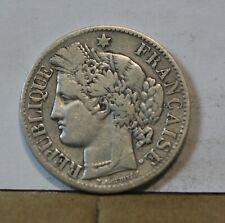 Monnaie france argent silver 2 francs ceres 1887 A 1
