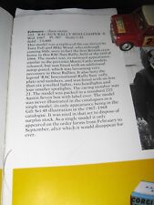 CORGI  333 ORIGINAL SUN RALLY  MINI ALL ORIGINALBUT PLAYWORN IN FLASH WORN  BOX