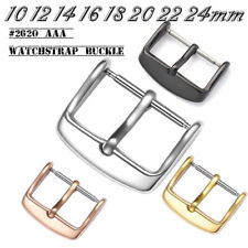 Polished Stainless Steel Strap Buckle Glossy Metal Watch Band Clasp 10-22mm 24mm