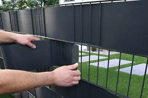 Sichtschutzstreifen Hart PVC Premium für Doppelstabmatten Zaun Gittermatten