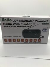 Kaito KA332W Weather Radio with AM/FM Flashlight Solar and Crank Power Black