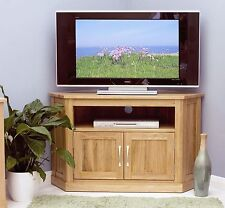 Mobel corner television cabinet stand unit solid oak living room furniture