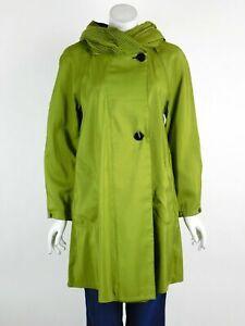 Mycra Pac Short Donatella Raincoat Grass/Black Reversible Pleated Hood XS New