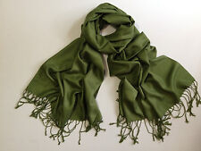 Pashmina Scarf 100% Viscose Plain Wrap Shawl Stole Scarf Many Colours Available