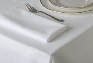 Luxury White Cotton Napkins Wedding Table Cloth Ware Dinner Party Soft Fabric