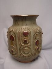 Mid Century Modern Pottery Vase by Raymond Gallucci American Artist 1923-2004