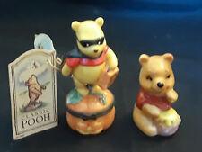 Vntg Disney Lot Of 2 ceramic Figurines Winnie The Pooh Trick Or Treat October