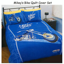 2 Pce - American Chopper Mikey's Bike SINGLE Quilt Doona Duvet Cover Set
