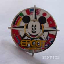 Disney Pin 119302 Epcot Flags Mickey Mouse Background of a Compass