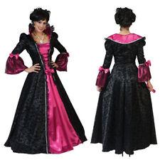 costume abito donna barocco tg 36 - 38 marchesa vestito lungo nero fucsia