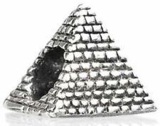 TEDORA EGYPTIAN PYRAMID BEAD 925 SILVER CHARMS FIT EUROPEAN BEADS S 380