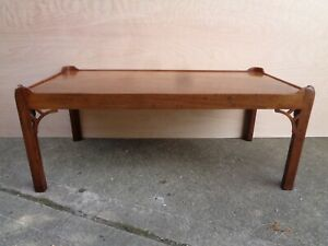 CONTEMPORARY ANTIQUE BESPOKE   MAHOGANY COFFEE TABLE CHIPPENDALE STYLE