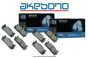 [FRONT+REAR] Akebono Pro-ACT Ultra-Premium Ceramic Brake Pads USA MADE AK99283