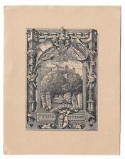 HUGO GERHARD STROEHL: heraldisches Exlibris für Philipp Strasser, Burg, 1900
