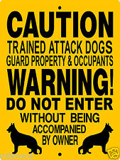 "GERMAN SHEPHERD DOG SIGN,9""x12"" ALUMINUM,Guard Dog Sign,Security Sign,2665  3391"