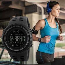 Womens Men's Waterproof Pedometer Photography Sport Reminder Digital Wrist Watch