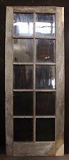 "29""x76 Antique Wood Wooden Exterior French Side Door Wavy Glass Lite Pane Window"