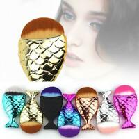 Mermaid Makeup Brushes Set Powder Foundation Cosmetic Fish Tail Brush