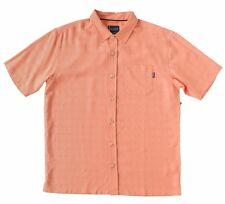 O'Neill Barnacle Mens Poly Blend Button Front Shirt Size Medium Orange New 2017