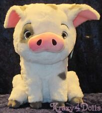 "Disney Moana's Pet Pua Large 17"" Plush Pig Toy Animal Authentic Patch New w/tags"