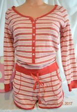 Victorias Secret Fireside SHIMMER Thermal One Piece Shorts Romper Pajamas NWT M