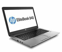 "PC PORTABLE HP EliteBook 840 G1 14"" CORE i5 4300U 1.9GHZ 8Go 180Go SSD Win10Pro"