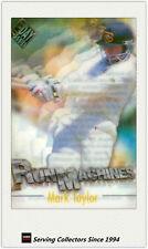 1996/97 Futera Cricket Decider Acetate Card Run Machine RM3: Mark Taylor
