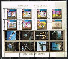 Ajman US Space Exploration History Apollo Program mini sheet 1970