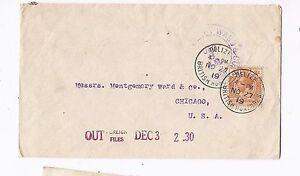 British Honduras 1919 KGV 3c cover (baj)