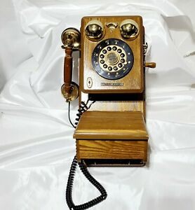 Vintage Limited Edition CR91W91G /910 wall Telephone Wood Case, Untested