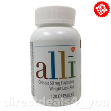 New Alli Diet Pills for Weight Loss, Orlistat 60 mg,  120 Capsules Exp 06/2022