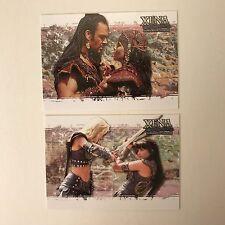 PROMO CARDS: XENA WARRIOR PRINCESS DANGEROUS LIAISONS: 2 DIFFERENT #P1 & #INT