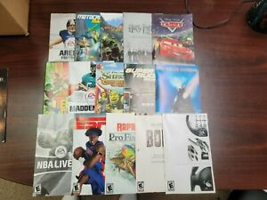 Various Original PlayStation 2 PS2 Instruction Booklet MANUAL ONLY NO GAME - M2