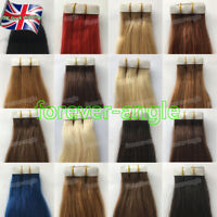 "Tape in Skin Weft Real Remy Human Hair Extensions Straight 20Pcs 7A Grade14""/24"""