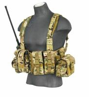 Lancer Tactical Airsoft Load Bearing T1G Chest Rig Vest w// Zipper Black CA-317B