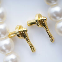 1 PAIR OF GOLD MINI DOOR HANDLES DOLLHOUSE MINIATURES 1/12 SCALE Tool Kids Gift