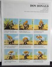 DON DONALD storyboard format Walt Disney animated cartoon short FREE US S/H