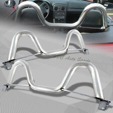 "For 1990-2005 Mazda Miata MX5 MX-5 Chrome 2.5"" Stainless Steel Support Roll Bar"