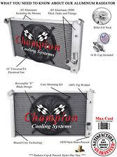 "1973 1974 Chevrolet Corvette V8 Engine 4 Row Champion SR Radiator w/ 16"" Fan"