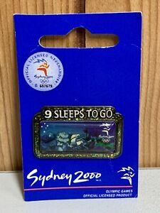 SYDNEY 2000 OLYMPIC  PIN - 9 SLEEPS TO GO - Brand New