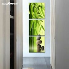 Artist Canvas Still Life Painting & Bamboo Forms Of Vertical Stone Pictures 3pcs