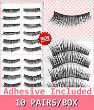 10 Pairs False Eyelashes Handmade Long Thick Natural Fake Eye Lashes Black #2