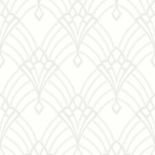 Astoria Art Déco Papel Pintado Blanco/PLATA - Rasch 305302 con purpurina