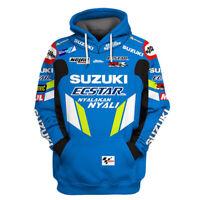 Hoodies Polyester For SUZUKI Sweat Fleece Sweater Riding Quick-Drying Moto Speed