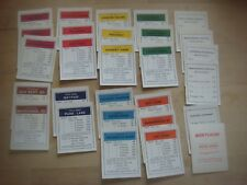 Full Pack Of Vintage Monopoly Title Deeds Cards