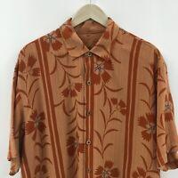 Mens XL TOMMY BAHAMA Short Sleeve 100% Tencel Lyocell Shirt Camp Hawaiiain 5c